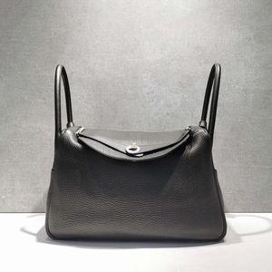 Hermès 爱马仕黑色togo皮银扣lindy 34手提单肩包