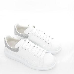 Alexander McQueen 亚历山大·麦昆男士真皮厚底小白鞋低帮休闲鞋
