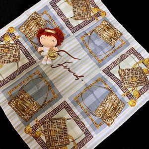 FENDI 芬迪主题系列纯棉方巾