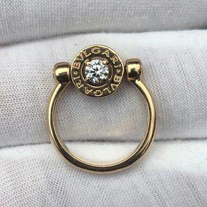 BVLGARI 宝格丽翻转式玫瑰金戒指