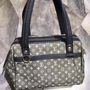 Louis Vuitton 路易·威登老花丹宁牛仔系列手提包