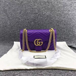 GUCCI 古驰紫罗兰全皮链条包