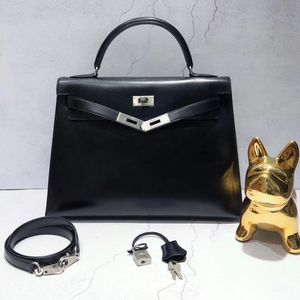Hermès 爱马仕黑银kelly32手提包