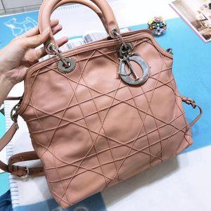 Dior 迪奥裸粉色全皮单肩手提包