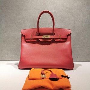 Hermès 爱马仕ep皮金扣bk35手提包