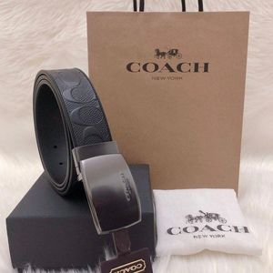 COACH 蔻驰加宽版双面牛皮腰带