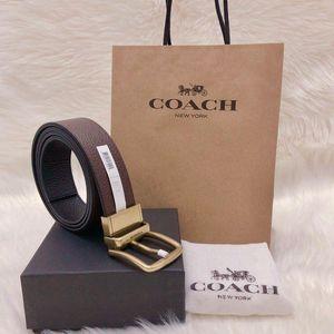 COACH 蔻驰加宽版双面双色牛皮礼盒腰带