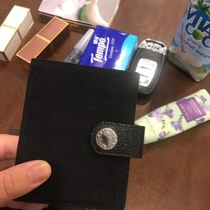 BVLGARI 宝格丽帆布拼皮卡包