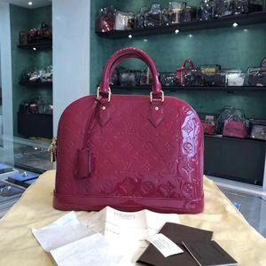 Louis Vuitton 路易·威登印度粉漆皮手提包
