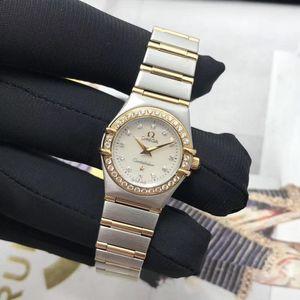 OMEGA 欧米茄星座系列1267.75.00女士18k金镶钻石石英腕表