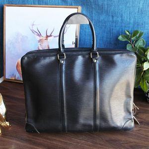 Louis Vuitton路易.威登大号黑色水波纹公文包