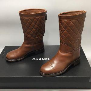 CHANEL 香奈儿女士高筒靴子