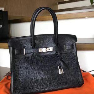 Hermès 爱马仕黑银birkin30手提包