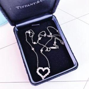 Tiffany & Co. 蒂芙尼心形镶钻项链