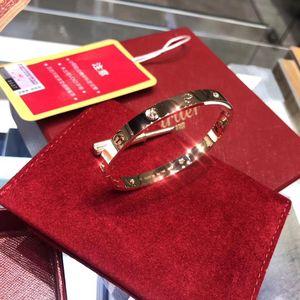 Cartier 卡地亚love系列18k四钻玫瑰金手镯