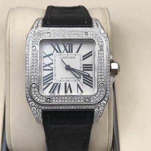 Cartier 卡地亚中号桑托斯女士腕表