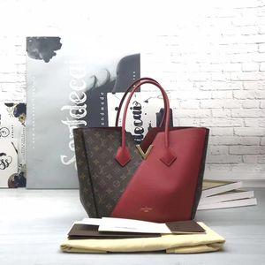 Louis Vuitton 路易·威登老花拼色手提包