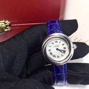 Cartier 卡地亚925白金小旋风石英女士腕表