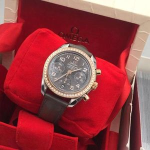 OMEGA 欧米茄超霸系列18k玫瑰金间金手表