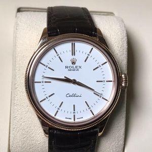 Rolex 劳力士切利尼男款全玫瑰金40表径自动机械腕表