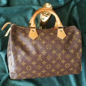 Louis Vuitton 路易·威登ST03005波士顿30老花配皮手提包