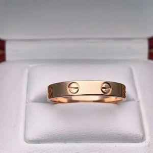 Cartier 卡地亚LOVE系列18k玫瑰金窄版57号戒指