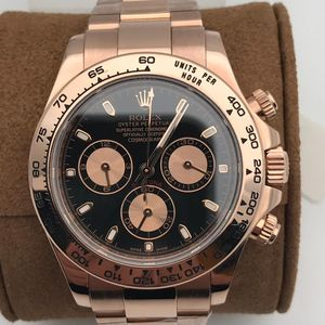 Rolex 劳力士玫瑰金计时自动机械表