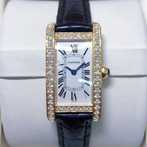 Cartier 卡地亚坦克系列后钻小号女士腕表