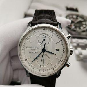 Baume & Mercier 名士克莱斯麦自动机械计时手表
