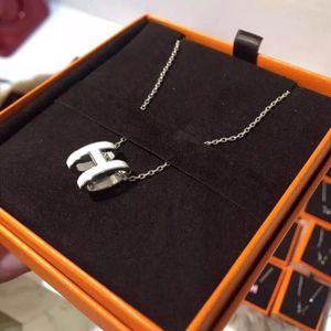 Hermès 爱马仕白银poph珐琅项链