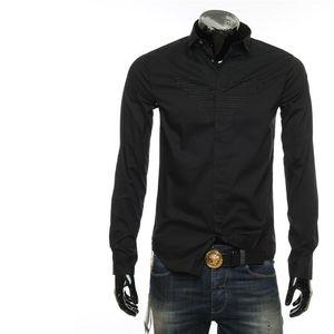 Emporio Armani EA 阿玛尼新款刺绣鹰标男士长袖衬衫