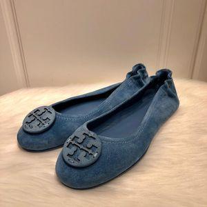 Tory Burch 托里伯奇新款女士磨砂绒面芭蕾舞软底鞋