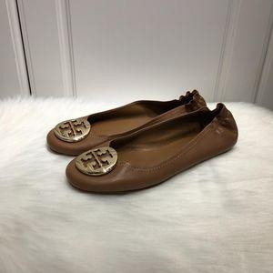 Tory Burch 托里伯奇女士棕色羊皮芭蕾舞软底平底鞋