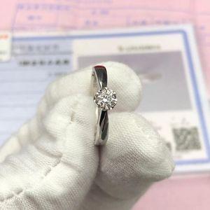 Laofengxiang 老凤祥白金钻石戒指