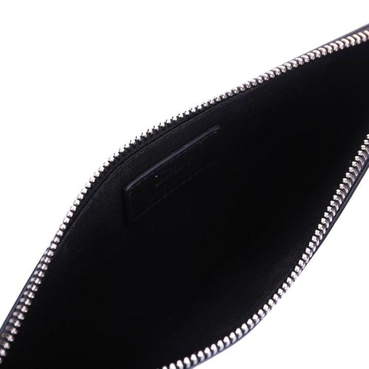 Dior 迪奥黑色经典蜂标志牛皮手拿包