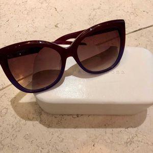 Marc Jacobs 马克·雅可布酒红框时尚太阳镜