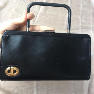 Dior 迪奥黑色蛙口手提包