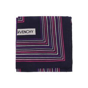 GIVENCHY 纪梵希时尚条纹撞色丝巾