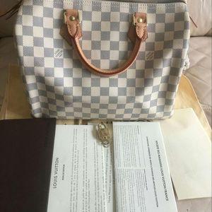 Louis Vuitton 路易·威登白棋盘大全套SP30枕头包