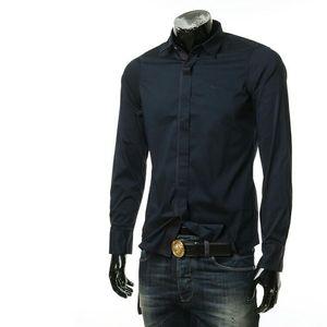 Emporio Armani 安普里奥·阿玛尼鹰标男士修身长袖衬衫