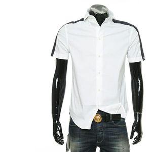 Emporio Armani 阿玛尼鹰标男士修身短袖衬衫