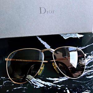 Dior 迪奥香槟金大框飞行员款超轻太阳镜