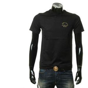 Emporio Armani 安普里奥·阿玛尼金线刺绣logo男士短袖圆领T恤