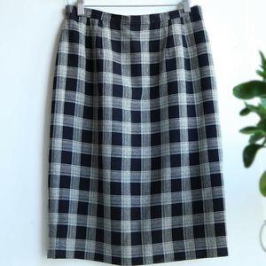 Burberry 博柏利YF07114高档羊毛订制格纹半身裙