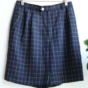 Burberry 博柏利YF07110海蓝色格纹高档裙裤