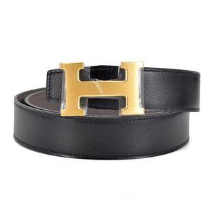 Hermès 爱马仕黑色金头皮带