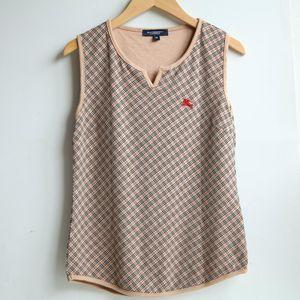 Burberry 博柏利伦敦YF07119粉系格纹背心T恤
