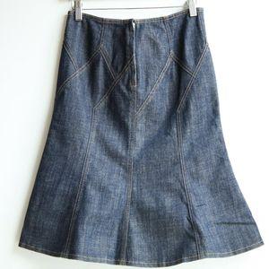 Burberry 博柏利伦敦YF07124经典牛仔拼接摆裙半身裙