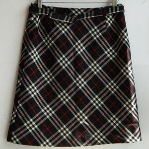 Burberry 博柏利蓝标YF07104经典格纹羊毛短裙半身裙