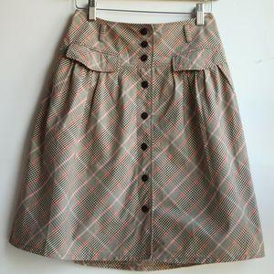 Burberry 博柏利蓝标YF07116粉系经典格纹半身裙